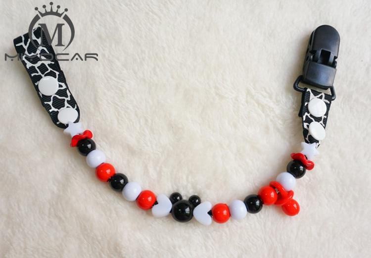 MIYOCAR Gratis forsendelse Baby Stunning farverige perler håndlavede pacifier kæde / pacificer klip / Dummy clip / pacifier holder