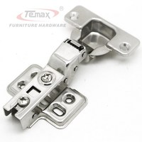 35mm Cup Half Overlay Stainless Steel 304 FURNITURE HARDWARE Hydraulic Buffering Kitchen Cabinet Cupboard Door Hinge