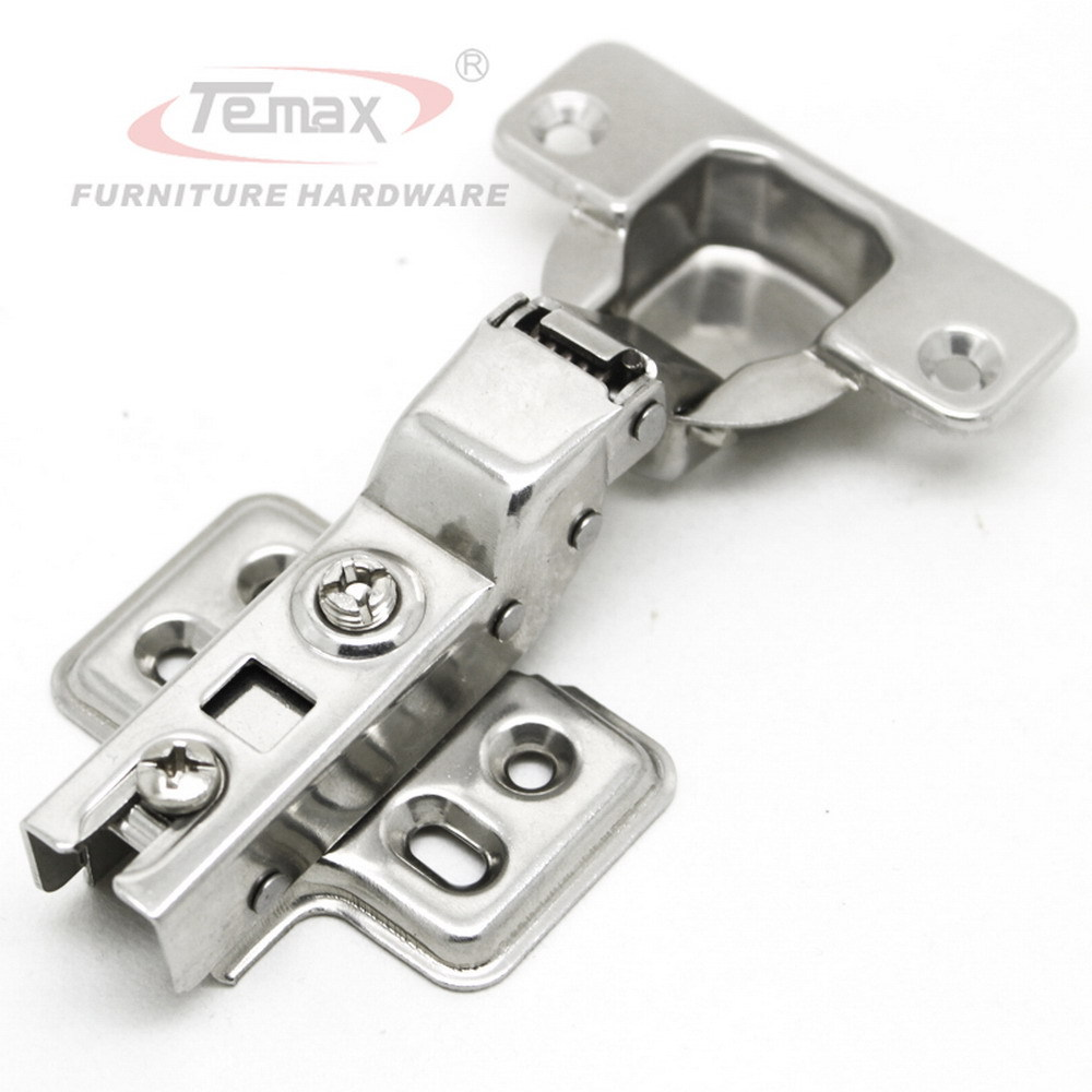 Kitchen Cabinet Hardware Hinges Top Corner 10pcs 35mm Cup Half Overlay Furniture Hydraulic Buffering Cupboard Door Hinge Damper