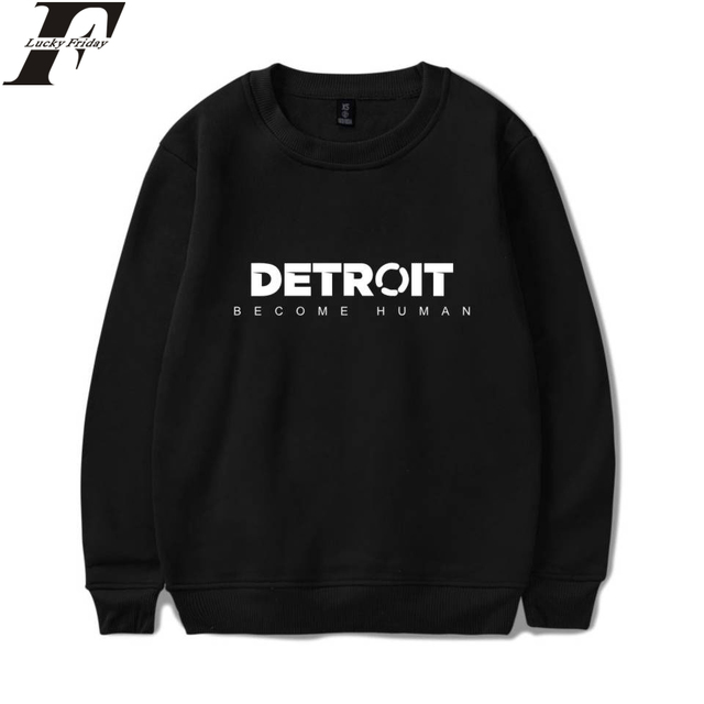 ba45e63882e LUCKYFRIDAYF Detroit Become Human Sweatshirts Hot Game Steelers Spring  Hoodies Pullover Regular Sweatshirts Clothes Plus Size