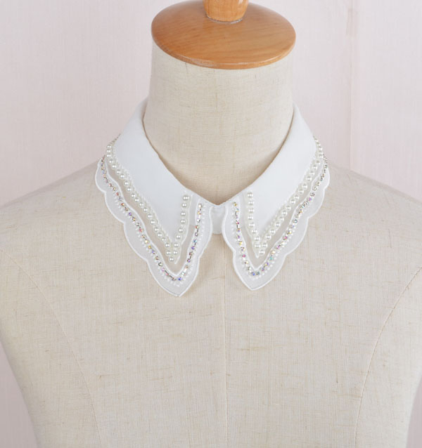 7e44c928ed Lace Craft Color: Red Handmade Shirt False Collar Women Lace Fabric ...