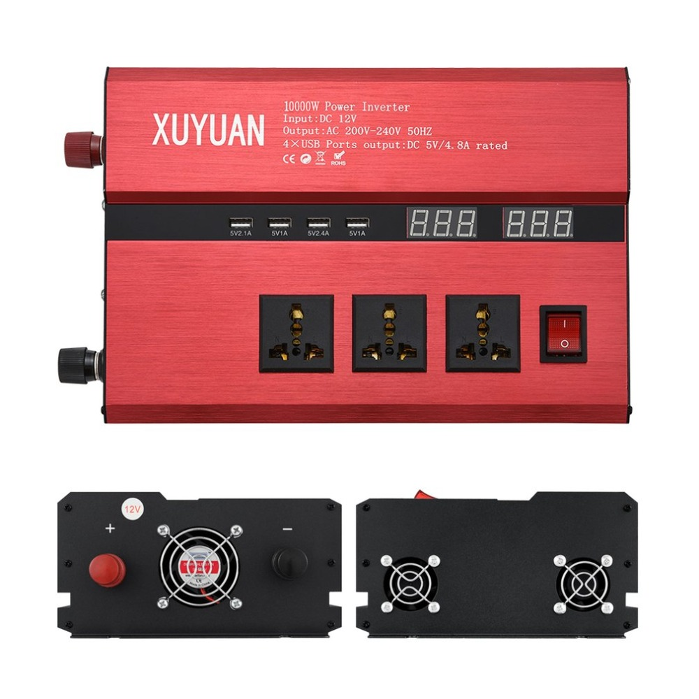 10000W onduleur solaire USB LED affichage AC/DC onde sinusoïdale Converter3000W/4000 W/5000 W solaire onduleur LED convertisseur d'onde sinusoïdale