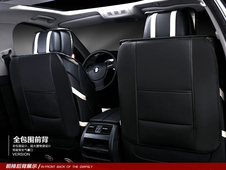 Cubierta de asiento de coche 3D Sports Styling, Senior Leather, - Accesorios de interior de coche - foto 3