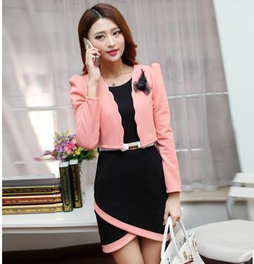 Autumn-new-OL-commuter-fashion-cultivate-one-s-morality-quality-professional-two-piece-Dress-small-suit (2)
