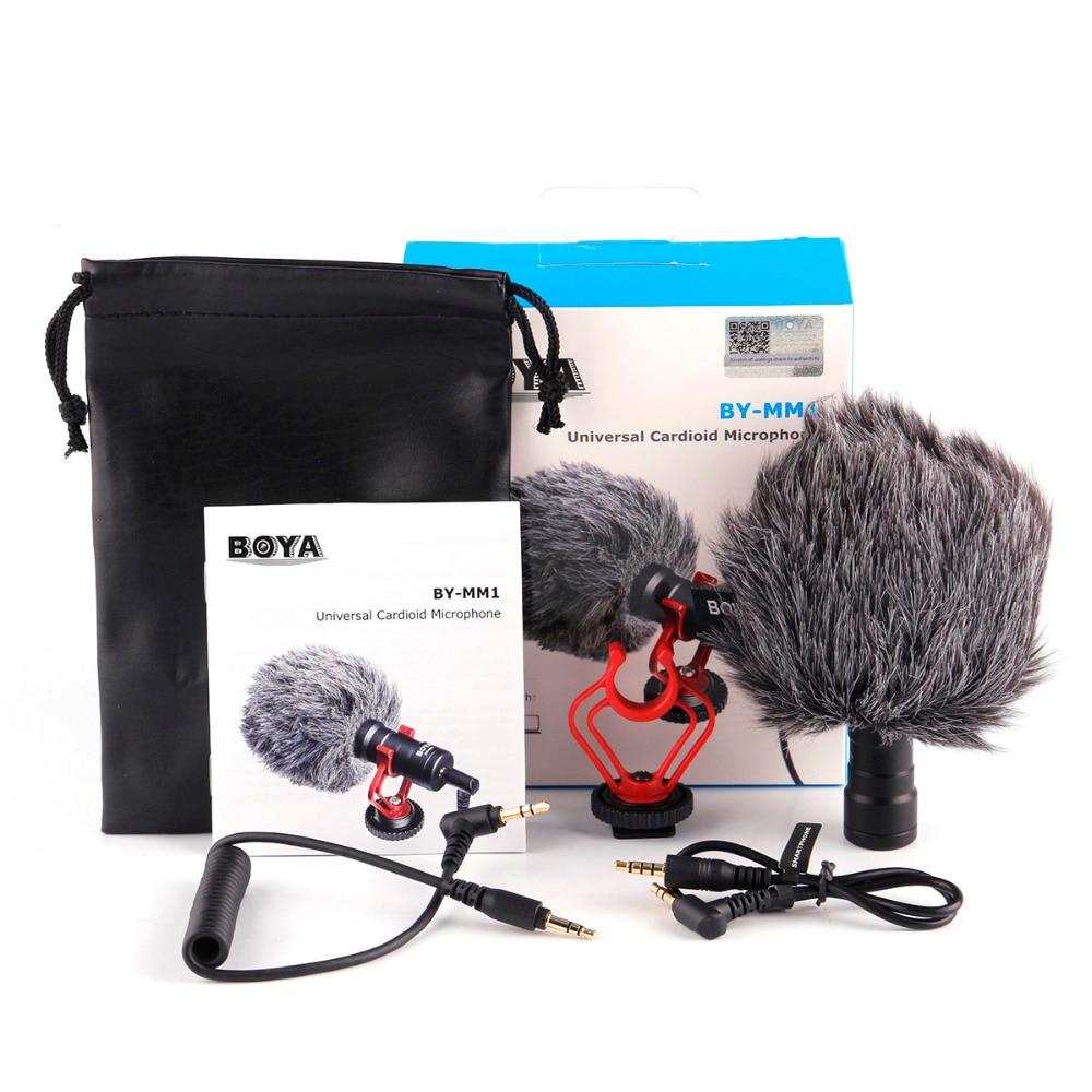 BOYA BY-MM1 cardioïde Microphone pour Smartphone DJI Osmo Nikon Canon DSLR Youtube Vlogging D'enregistrement 3.5 MM câble audio - 4