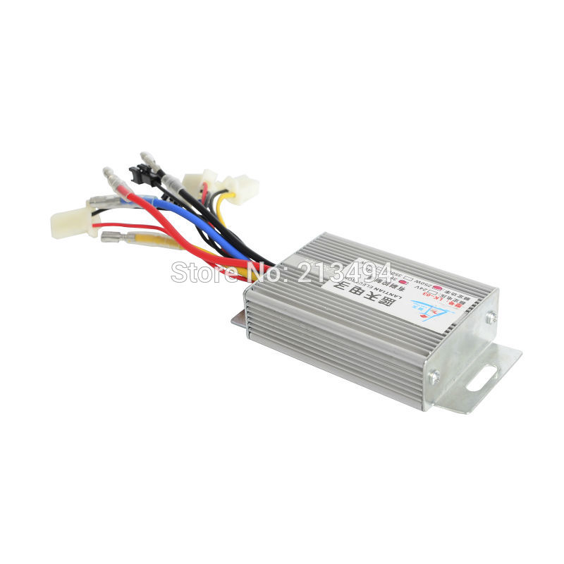 24V 36V 250W 350W 500W Motor Brush Controller Box For Electric Bicycle Ebike E-motorcycle E-Scooter