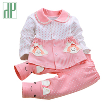 Newborn Baby girl clothes spring autumn baby clothes set cotton Kids infant clothing Long Sleeve Outfits 2Pcs baby tracksuit Set