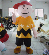 Good ventilation adult Charlie Brown mascot costume