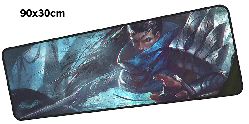 yasuo mousepad gamer 900x300X3MM gaming mouse pad large Beautiful notebook pc accessories laptop padmouse ergonomic mat
