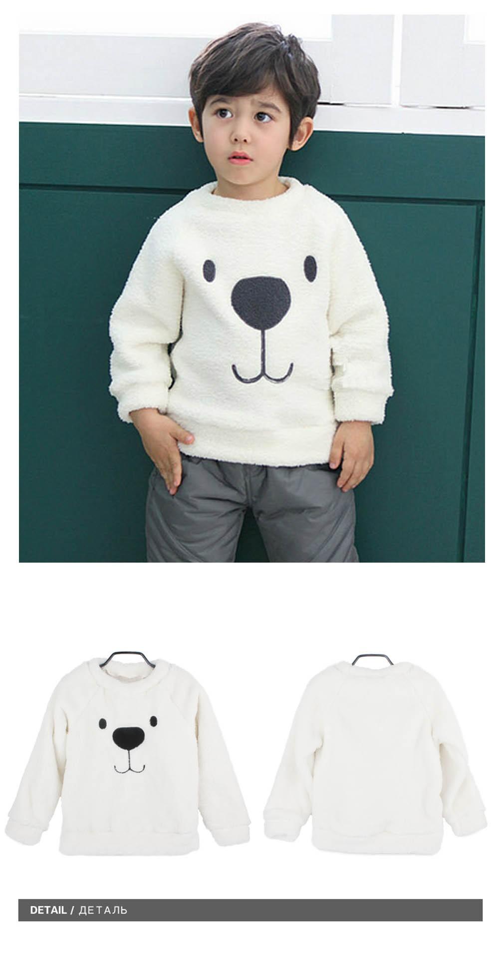 079f8bda0 Newborn Winter Warm Thick Fleece Baby Sweaters Infant Cute Cartoon ...