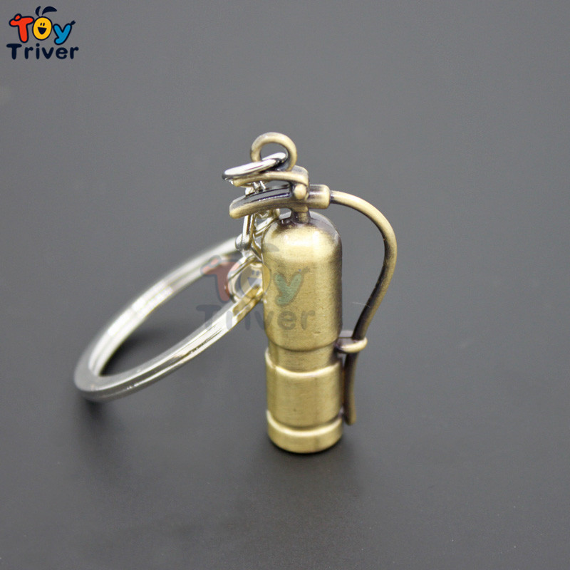 Wholesale Creative Simulation Fire Extinguisher Key Ring Key chain bag pendant toys part ...
