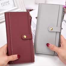 Famous Brand Women Wallet PU Leather Long Clutch Wallets for Women Card Holder Hasp Zipper with Coin Pocket Bifold Female Purse 3 fold pu leather women wallet clutch famous brand design ladies purse card phone holder notecase clutch long burse coin pocket