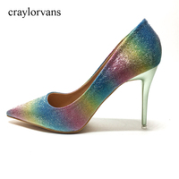 2018 GUQ sandals Brand Women Pumps High Heels Colorfull Wedding Shoes Woman High Heels Sexy Ladies Shoes Women High Heel Pumps