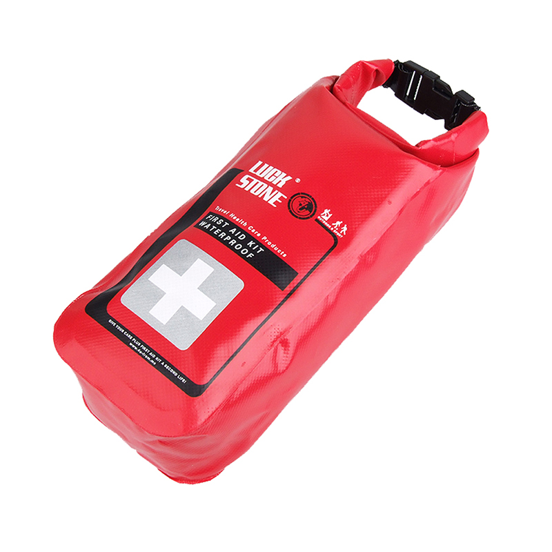 Red Color Waterproof 2L First Aid Bag Emergency Kits Empty Travel Dry Bag Rafting Camping Portable Medical Bag New