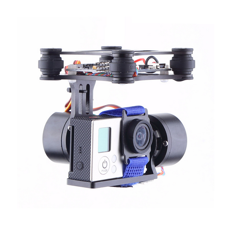 Register shipping 1set Phantom Brushless Gimbal Camera Mount w/ Motor & Controller accessories for Gopro3 FPV Aerial Photography стоимость