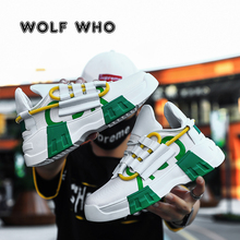 WOLF WHO New Male Sneakers Chunky Wedge Dad Shoes Hot Haraju