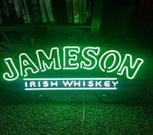 Custom Jameson Irish Whiskey Glass Neon Light Sign Beer Bar