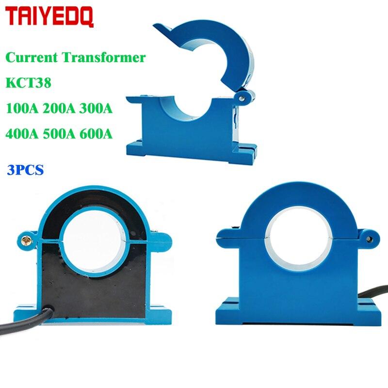 3 pcs/lot Mini transformateurs de courant alternatif CTs 100A 200A 300A 400A 500A 600A 0.5 classe transformateur de courant ca noyau divisé capteur CTs
