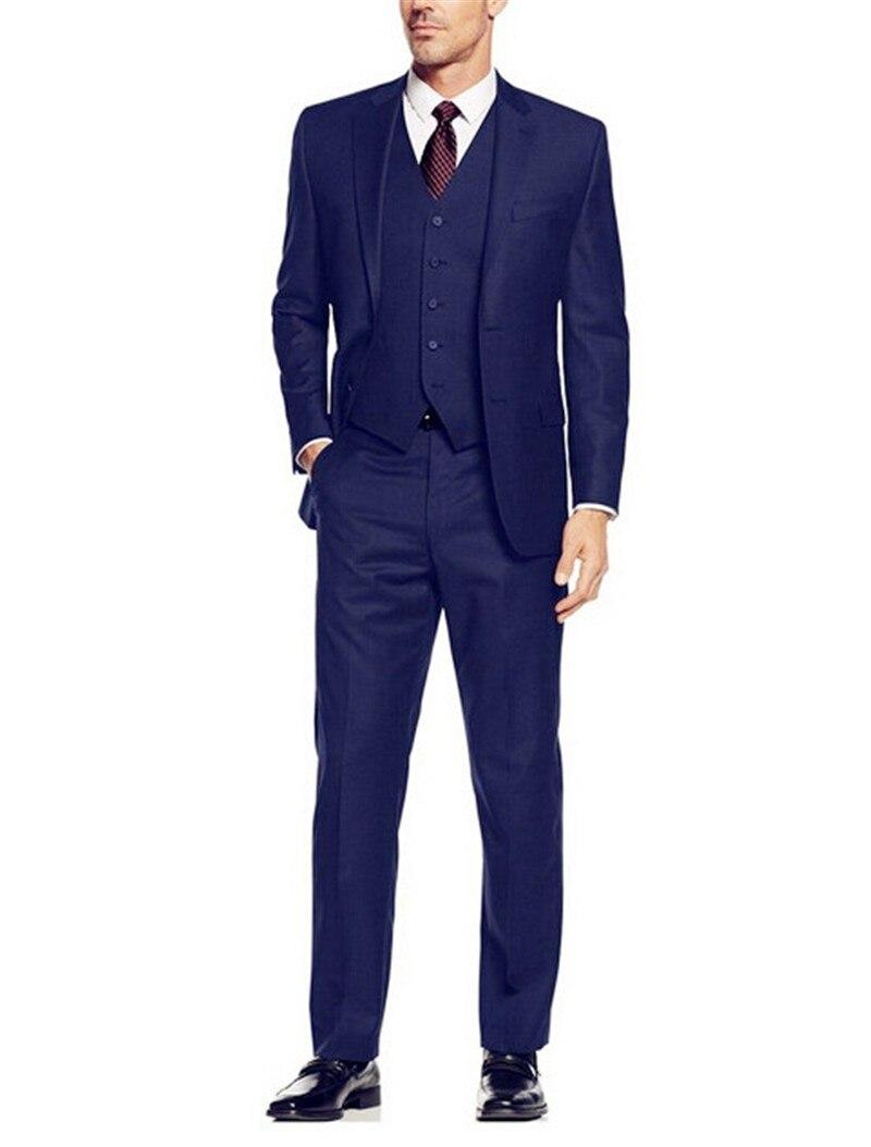 Anzüge & Blazer jacke + Pants Hohe Qualität Dunkelgrün Herren Anzüge Bräutigam Smoking Groomsmen Hochzeit Abendessen Best Man Anzüge
