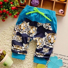 DIIMUU Toddler Baby Boy Clothes Pants Kids Boys Clothing Pockets Trousers  Tiger Printing Casual Cotton Britches 1pc Boys' Pant -in Pants from Mother  &