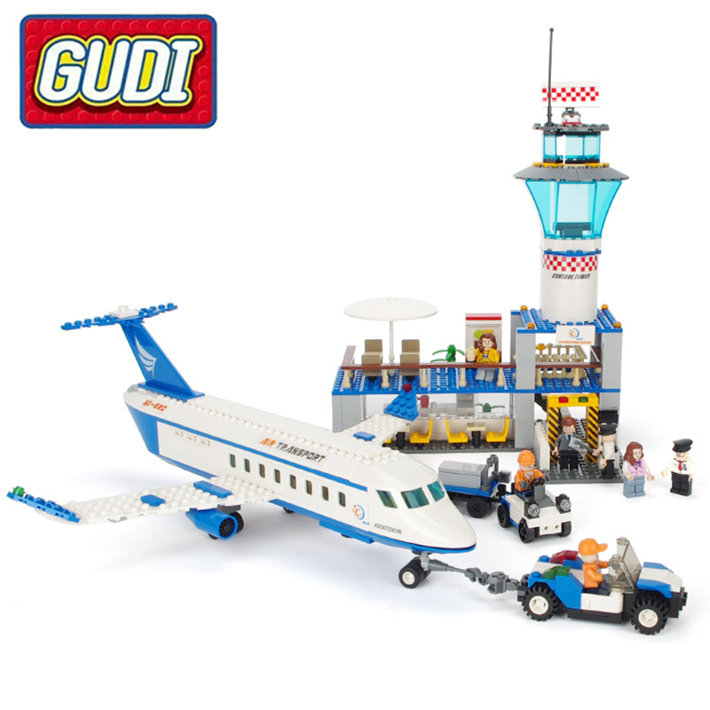 GUDI Air Plane Passenger Airport Building Blocks Bricks Boy Toy Compatible With 652pcs Kids Educational Toys For Children Gifts fashion inspirational letters pattern wall sticker for livingroom bedroom decoration