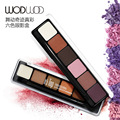 6 Colors Shimmer Eyeshadow Makeup Naked Smoky Palette Matte Make Up Set Eye Shadow Maquillage Cosmetic with Brush
