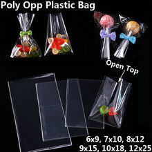 Clear Poly OPP Plastic Bag Cookies Candy Food Jewelry Packaging Bags Christmas Wedding Birthday Party Small Gift Bags Diy Pouch(China)