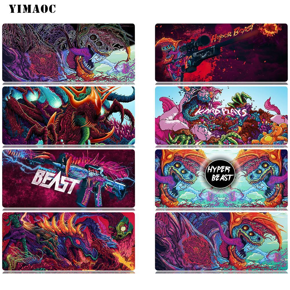 YIMAOC Hyper Beast Mouse Pad 30x80 cm Computer Mousepad Anti-slip Natural Rubber Gaming Mat