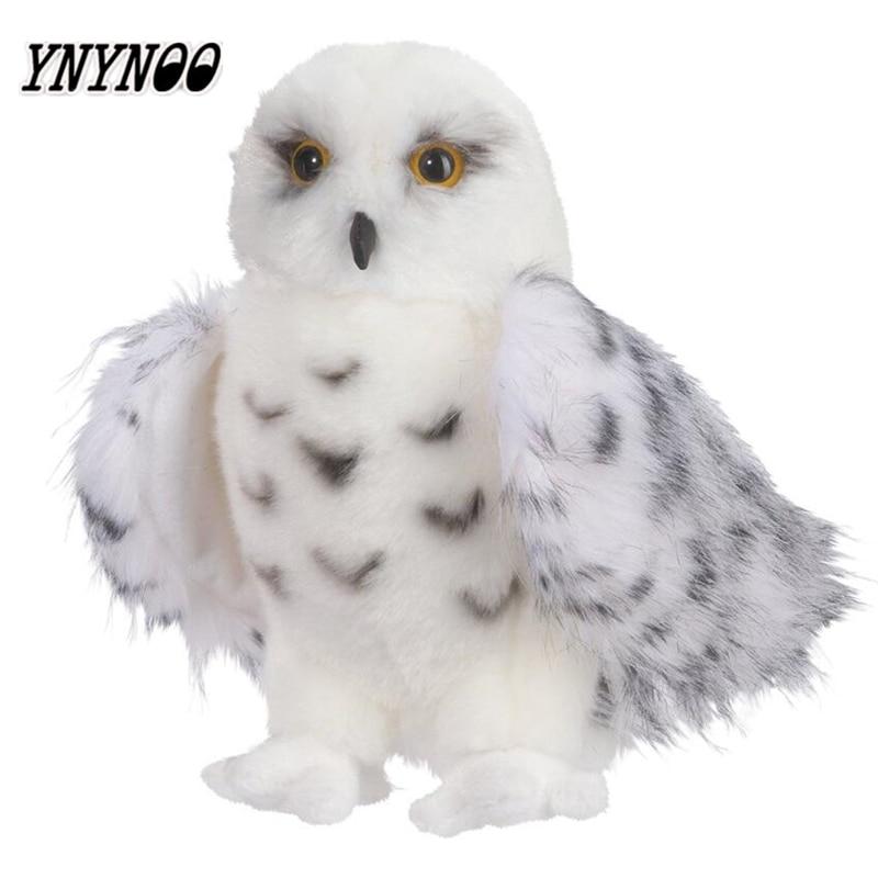 YNYNOO Premium Quality Snowy White Plush Hedwig Owl Toy Large 12-Inch Adorable Stuffed Animal Soft Perfect Gift Idea for Bird