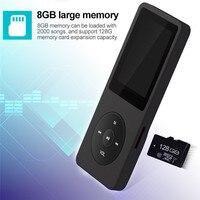 8 기가바이트 미니 MP3 플레이어 스피커 휴대용 충전식 디지털 오디오 사운드 음성 레코더 LCD 컬러 디스플레이 FM 오디오 레코