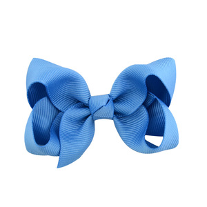 Image 5 - 3 inch 40 Bulk Small Toddler Ribbon Bows Alligator Hair Clips Solid Children Hair Bows For Pigtails Little Girl Hair Accessories