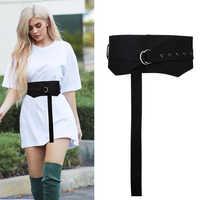 Fashion Wide slim body corset soft Cloth knot Belts Joker Decoration cummerbund Dress waistbands for Women Apparel Accessories