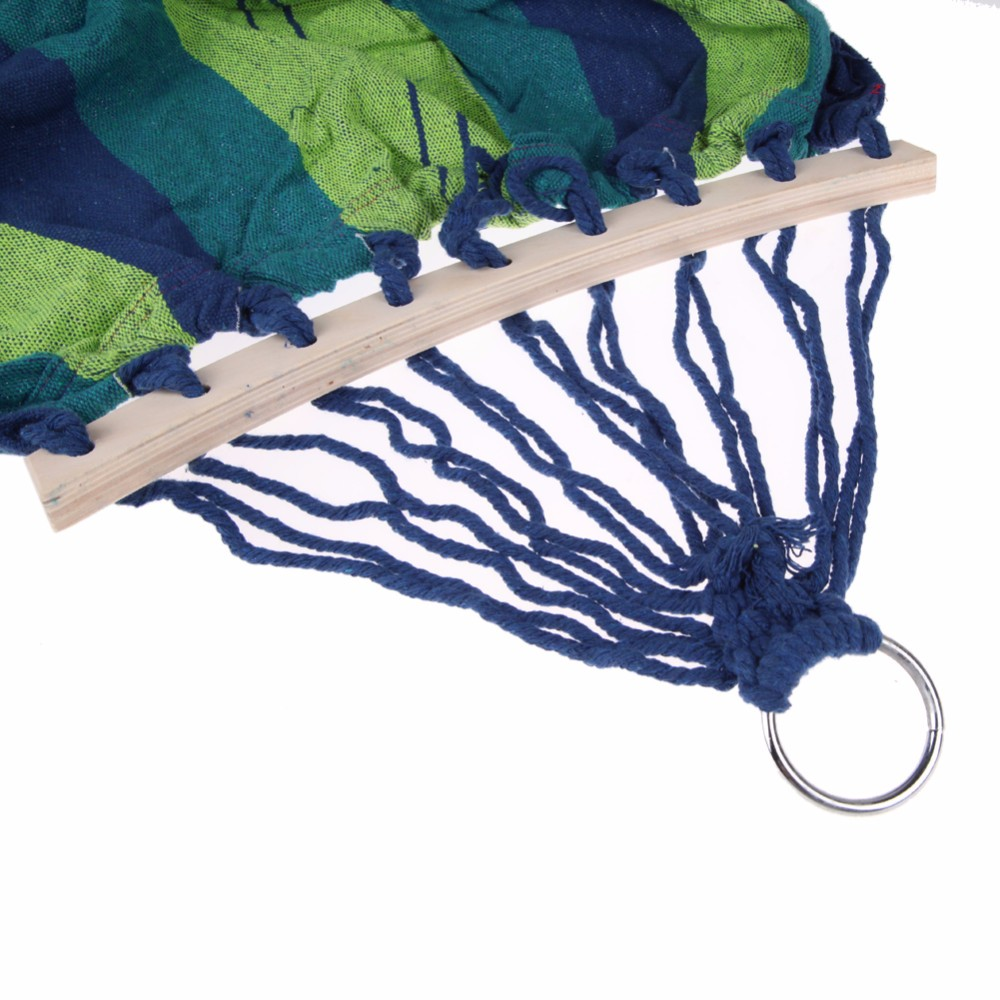 Canvas-Double-Spreader-Bar-Hammock-Outdoor-Camping-Swing-Hanging-Bed-Blue-Free-Shipping (3)