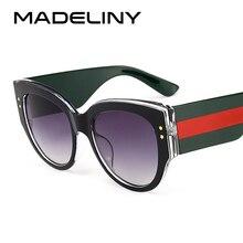 MADELINY Moda Rodada Do Vintage Óculos De Sol Novo Estilo Gato Olho Óculos  de Sol Marca de Luxo Designer de 2018 Grosso Eyewear . 5e42be6eee