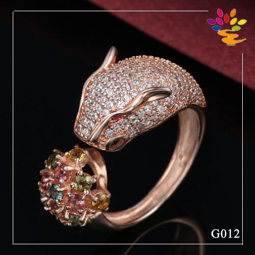 Design For Men Gold Ring Solid Leopard Rose Gold Ring Indian Style