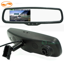 "Dual Lens 4.3"" Car Rearview Mirror DVR Video Recorder with Full HD 1080P and Original Bracket IR Night Vision"