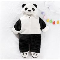 Winter New Arrival Baby Boys Girls Romper Super Keep Warm Jumpsuits Fashion Thicken Cute Bearcat Elephant Baby Kids Clothes