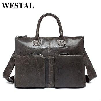 a7bb3ca78ee3 Product Offer. WESTAL простая деловая сумка мужская портфель мужской  натуральная кожа ...