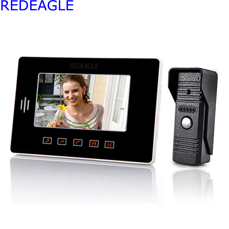 Home Color Video Door phone DoorBell Intercom System w/ 7 Inch TFT Touch Key Screen Monitor Night Vision IR Outdoor Camera 7inch video door phone intercom system for 5apartment tft lcd screen 5 flat indoor monitor with night vision cmos outdoor camera