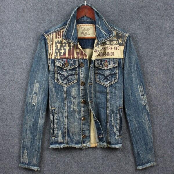 2015 men's denim jackets,jean jacket man male do old blue