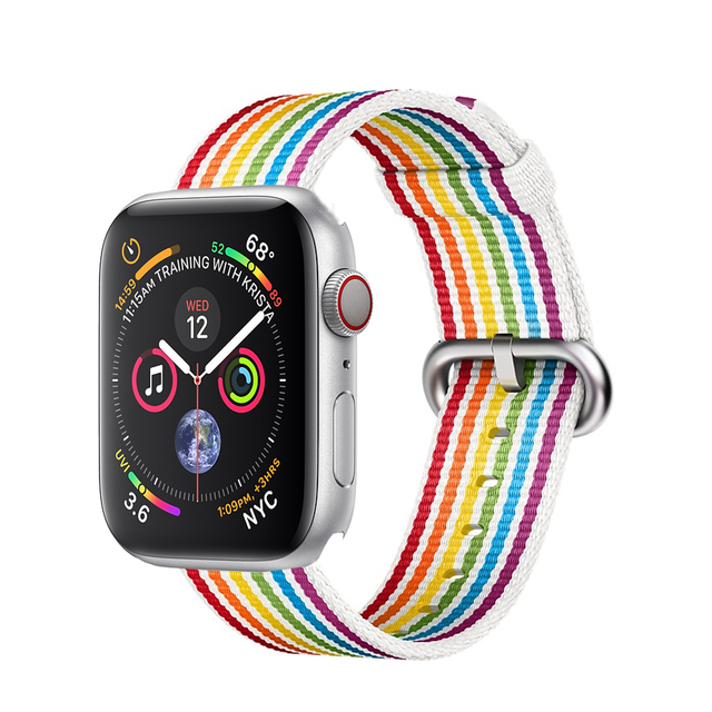 Woven nylon strap For Apple watch band 44mm 40mm correa aplle watch 42 mm 38 mm