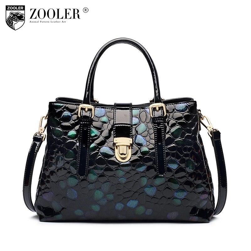 High quality HOT ZOOLER brand women bag genuine leather large bag Fashion Travel lady shoulder bags pattern Messenger Bag  c127