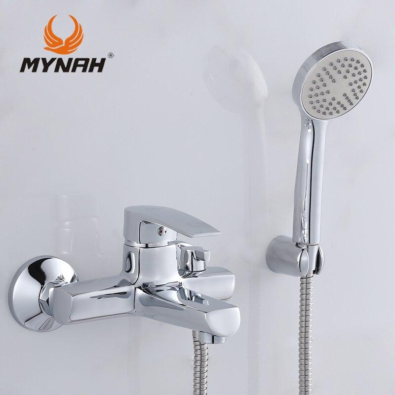 MAINATE Russie livraison gratuite Salle De Bains robinet de douche robinets de bain mélangeur système Tropical Douche Douche rack avec mélangeur De Douche de cuivre
