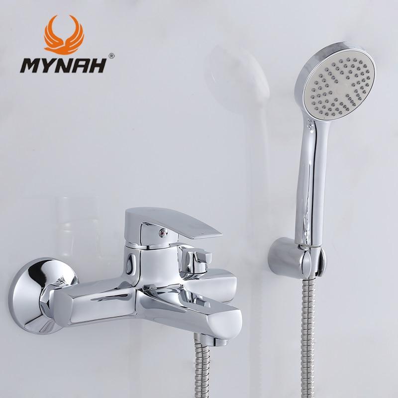 Myna russie livraison gratuite robinet de salle de bain robinets de douche mélangeur de bain système de douche douche tropicale support de douche avec mélangeur cuivre