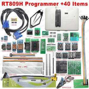 Image 4 - 100% Original RT809H EMMC Nand FLASH  Programmer +55 Items with BGA48 BGA63 BGA64 BGA169 Adapter RT809H EMMC Nand Flash TSOP48