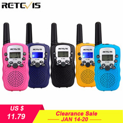 2pcs Mini Walkie Talkie Kids Radio Retevis RT388 0.5W PMR PMR446 FRS UHF Frequency Portable Two Way Radio Gift A7027