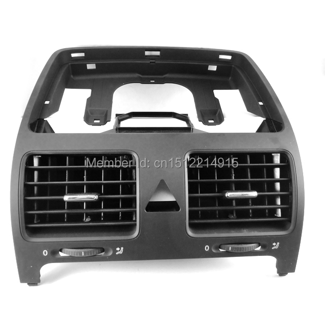 For VW Jetta Golf GTI Rabbit MK5 MKV Black Front Dash Central Air Outlet Vent 1K0 819 728 F 1QB , 1K0 819 728F , 1K0819728F new oem vw jetta golf mk5 gti rabbit front fog lights lamps 1t0941699 1t0941700 2005 2009