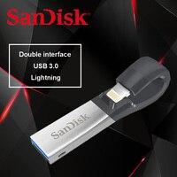 SanDisk SDIX30N OTG USB Flash Drive 64GB Pen Drive 3.0 64G PenDrives USB Stick double interface for iPhone iPad iPod APPLE MFi
