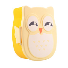 1pc Cartoon Owl Lunch Boxs Food Fruit Storage Container Portable Bento Box Safe Food Picnic Container Hot Lunchbox Children Gift