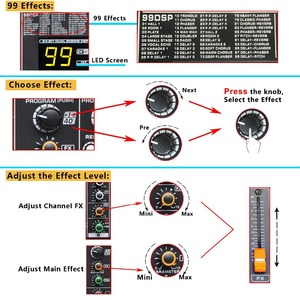 Image 5 - Freeboss MINI8 8 قنوات (مونو) وحدة التحكم خلط مع بلوتوث سجل 99 DSP تأثير USB وظيفة المهنية جهاز مزج الصوت